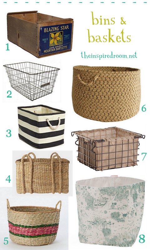 Gather {Bins & Baskets for Organization}