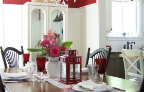 dining+room+red+walls+white+board+batten