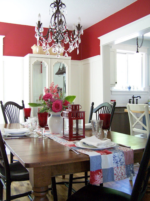 Beautiful Red Dining Room With White Board Batten Delorme Designs