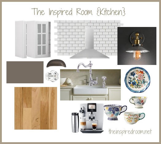 Kitchen inspiration board for Kitchen decor inspiration
