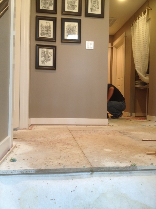 Goodbye carpet for Hardwood floors upstairs