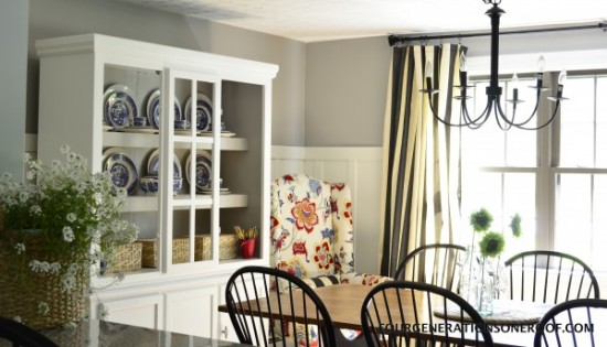 Cottage Dining Room Makeover {Four Generations One Roof}