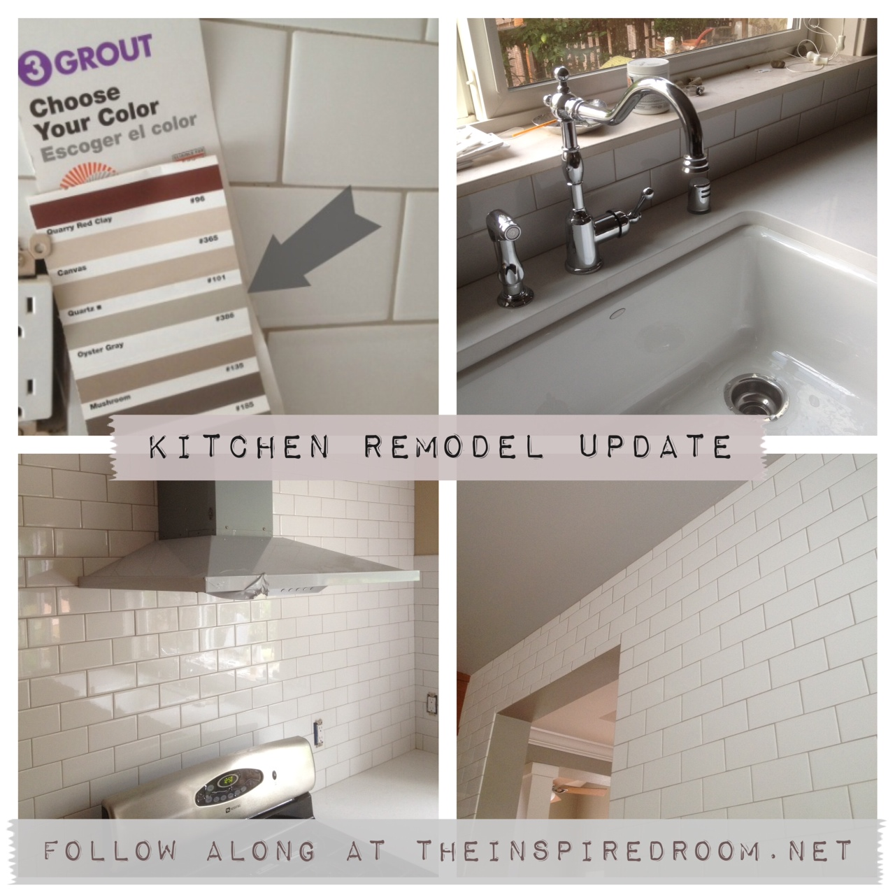 Subway tile grout oyster gray what color is my subway tile grout a kitchen remodel progress report doublecrazyfo Images