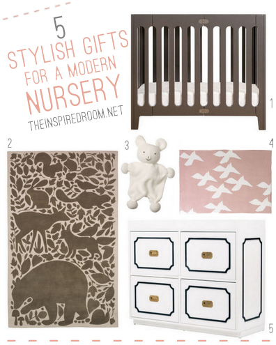 5 Stylish Gifts for A Modern Baby Nursery {Online Baby Registry}