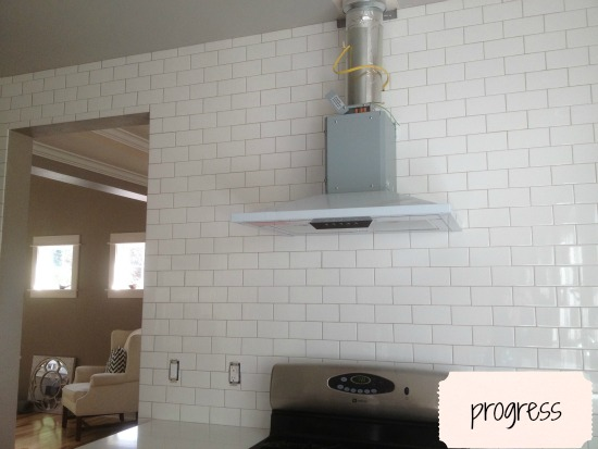 What Color is My Subway Tile Grout? {A Kitchen Remodel Progress Report!}