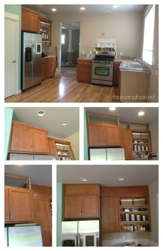 Filling Space Above Kitchen Cabinets