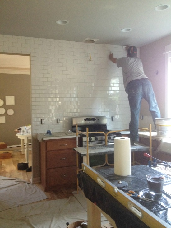 kitchen progress:: {subway tile and counters} - the inspired room