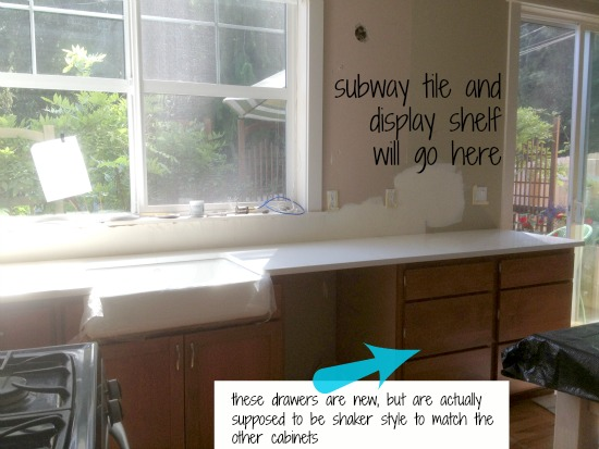Kitchen Progress:: {Subway Tile and Counters}