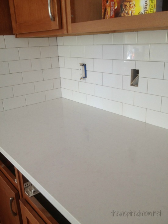 Entzuckend Kitchen Progress:: {Subway Tile And Counters}