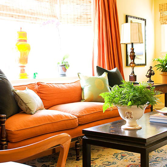 20 Ways To Decorate With Orange And Yellow: Fall Decorating: Fresh Color Combinations