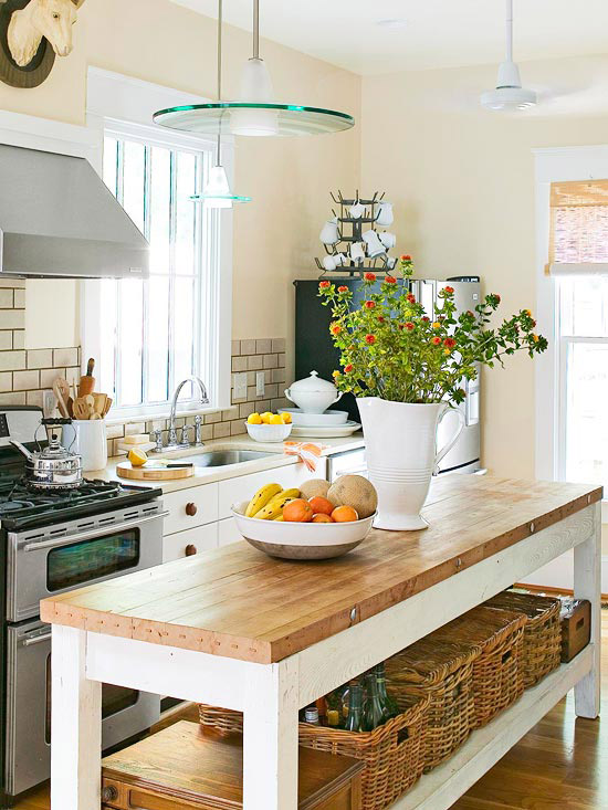 12 freestanding kitchen islands the inspired room for Kitchen ideas no island