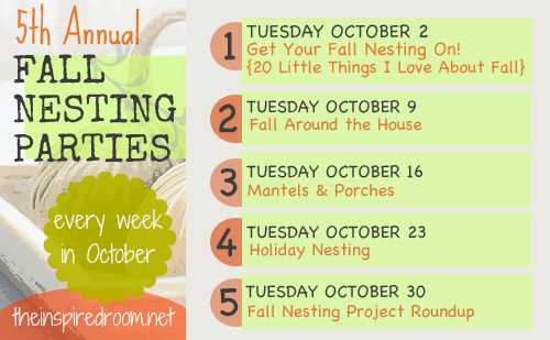 Fall Nesting Series {Links to Bloggers Doing Fall Home Series}