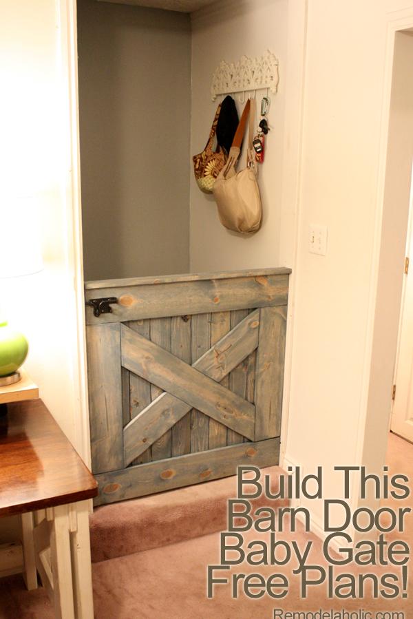 Merveilleux DIY Barn Door Baby Gate {Remodelaholic}