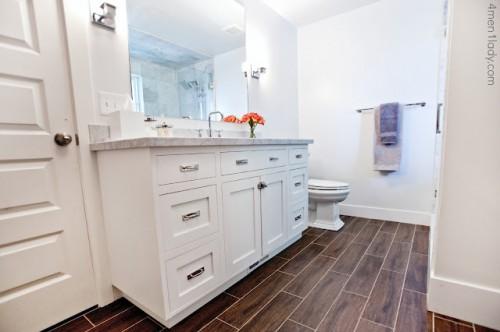 Master Bathroom and Closet Makeover {4 Men 1 Lady}