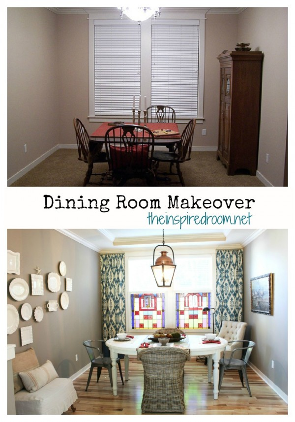 my dining room makeover! an evolution {before & after} - the