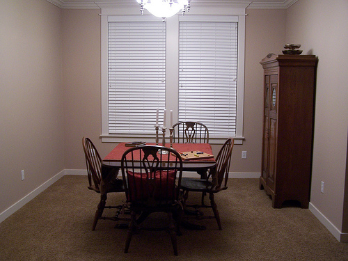 dining room before just moved in