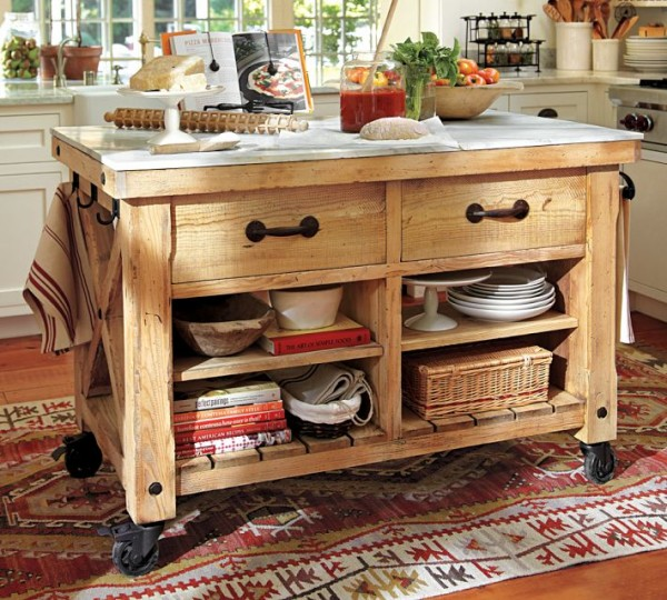 12 freestanding kitchen islands - Kitchen Island On Wheels