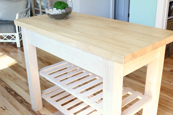 Creating A Kitchen Island: My Unfinished Kitchen Island {Creating Function & Beauty
