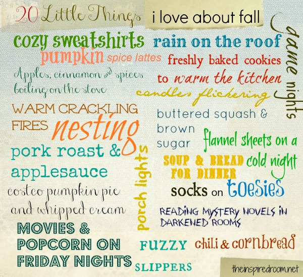 Embracing Fall {20 Little Things I Love About Fall}