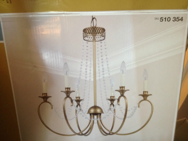 {Nesting in the Entry!} Creating Ambience with a Beaded Crystal Chandelier
