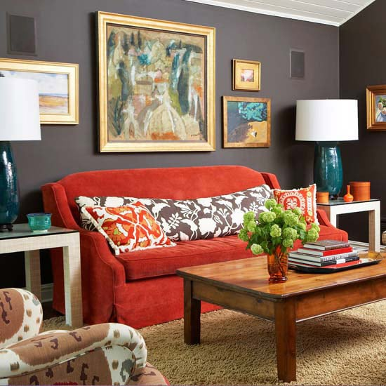 Cozy Decorating {Orange & Red}
