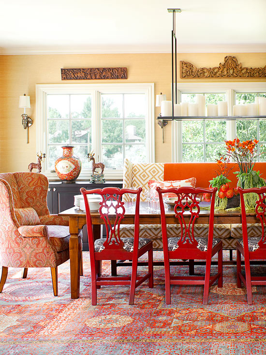 Image result for photos of fall  dinning rooms""