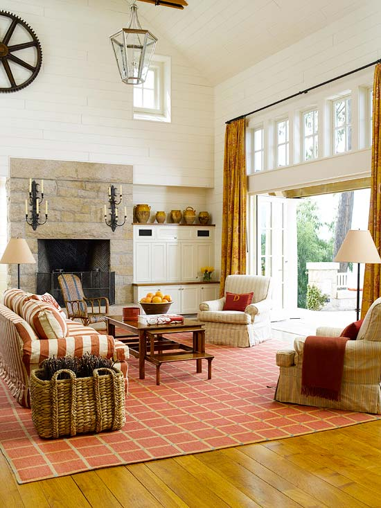 Cozy decorating orange red the inspired room for Better living designs