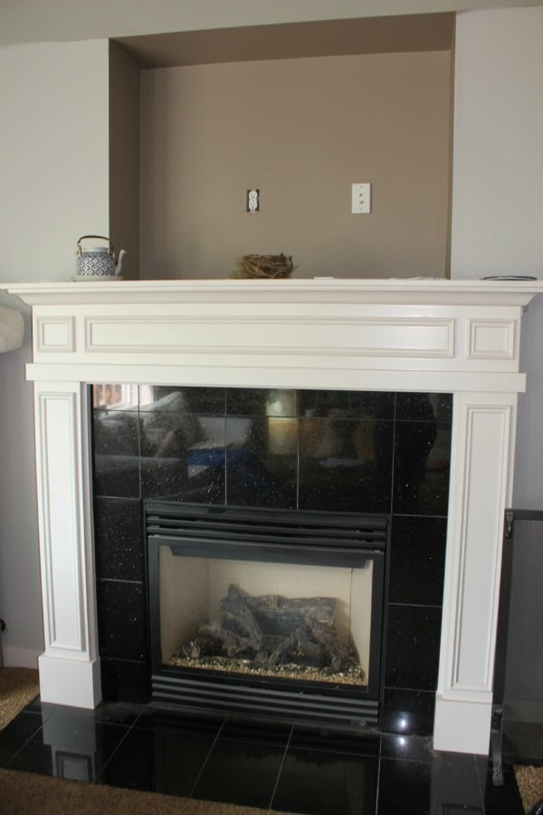 Fireplace Makeover {Before & After}