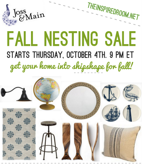 The Fall Nesting Collection: A Joss & Main Sale!