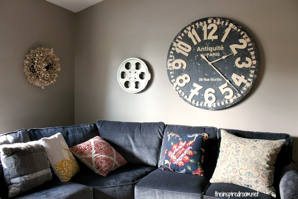 Fall Nesting} Media Room Update! The New Sectional Has Arrived ...