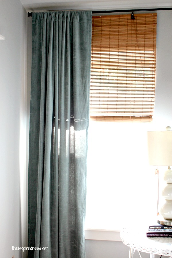 Master bedroom makeover a progress report the for Bamboo curtains in bedroom