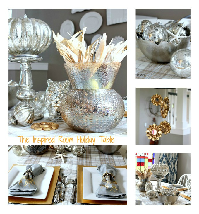 Silver Amp Gold Holiday Table The Inspired Room