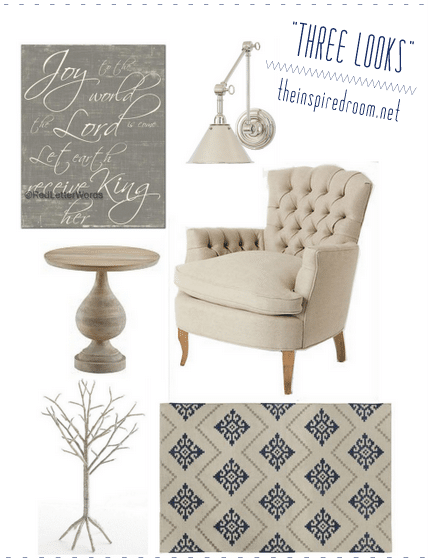 3 Looks {Room Inspiration Boards with Red Letter Words art!}
