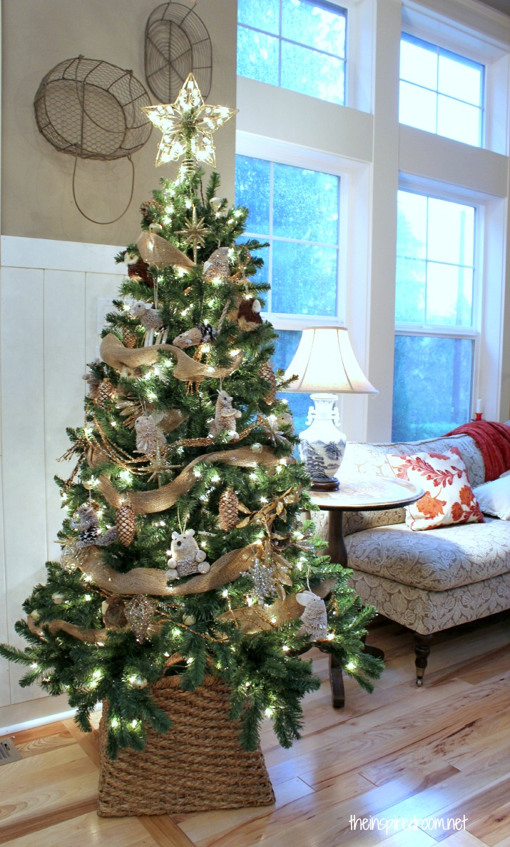 my woodland christmas tree reveal the inspired room. Black Bedroom Furniture Sets. Home Design Ideas