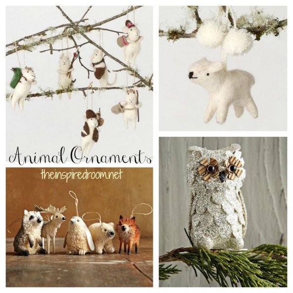 inspiration} Animal Christmas Ornaments - The Inspired Room
