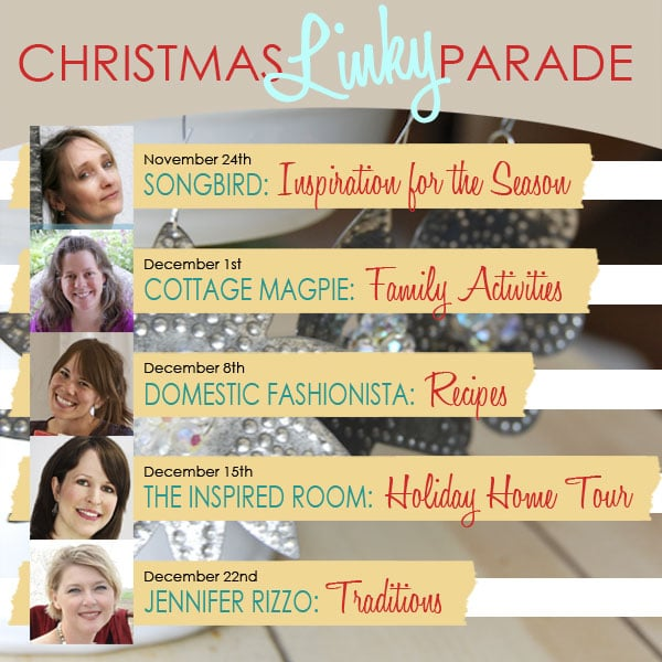 Holiday Home Tour Date {& Christmas Linky Parties}