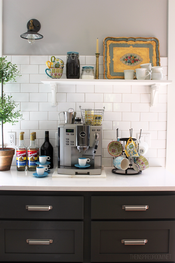 Coffee station kitchen - The Inspired Room