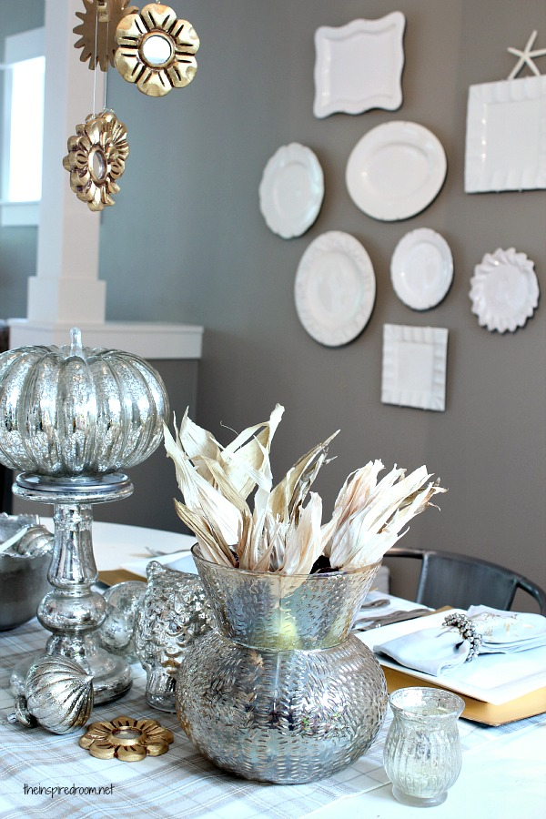 Silver & Gold Holiday Table