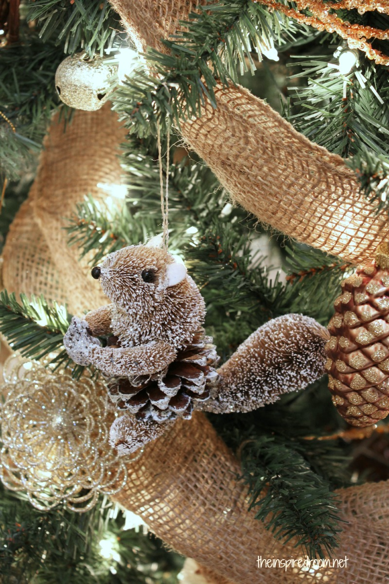 Themed christmas ornaments - My Woodland Christmas Tree Reveal