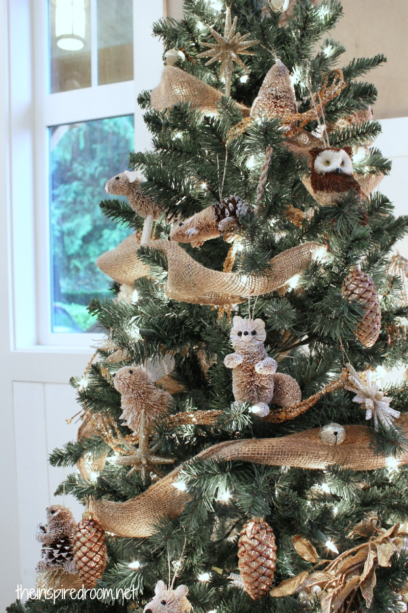 My woodland christmas tree reveal the inspired room for Animals decoration