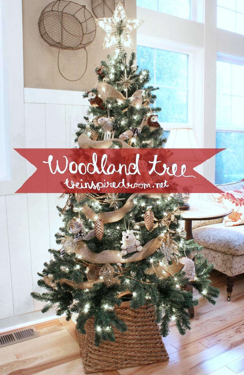 My Woodland Christmas Tree Reveal The Inspired Room