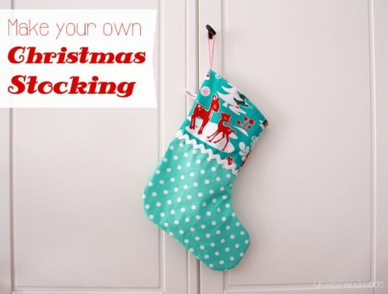Sew Your Own Christmas Stockings {Luloveshandmade}