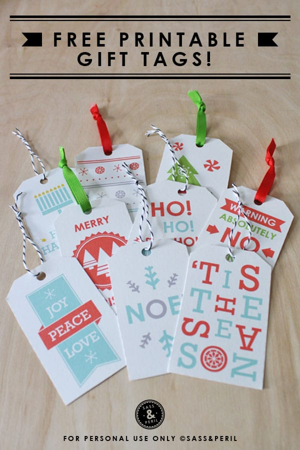 Free Printable Gift Tags {Gift Wrapping}