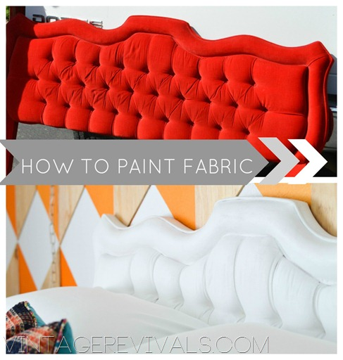 How to Paint Fabric {Vintage Revivals}