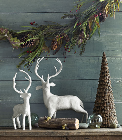 Woodland Christmas Decorations.Cozy Natural Christmas Decor The Inspired Room