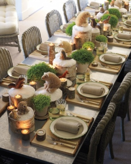 Woodland Christmas Dining Table