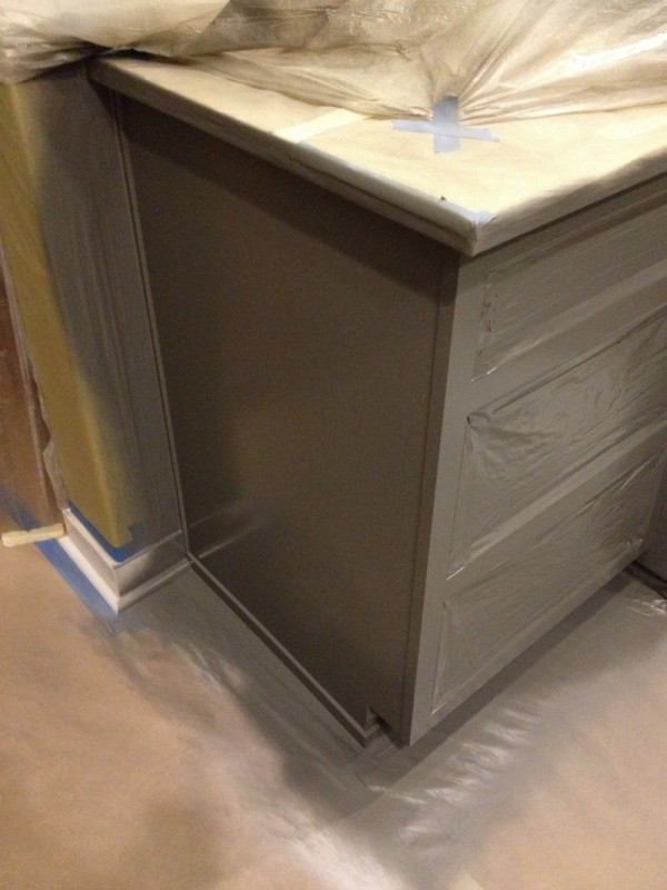 Painting the Kitchen! {Progress Report and Cabinet Hardware!}