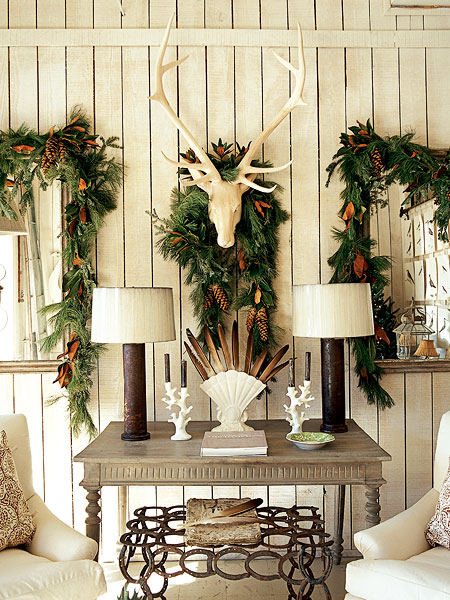 cozy natural christmas decor