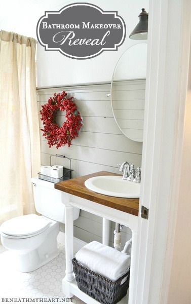 Cottage Farmhouse Bathroom Makeover!