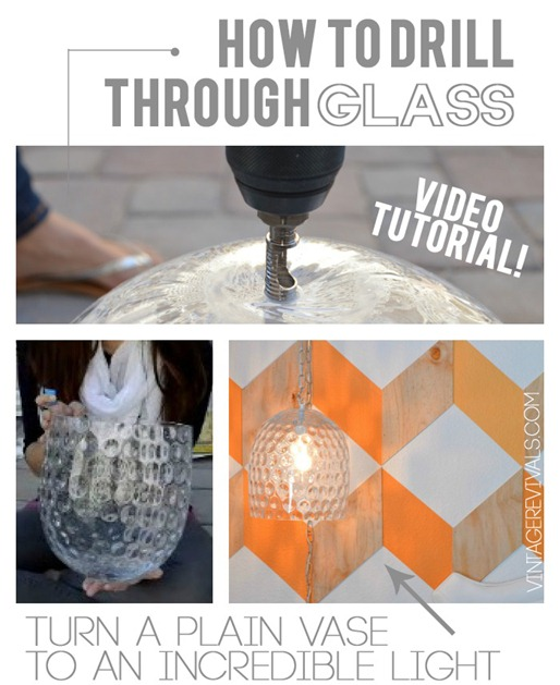 How To Drill Through Glass for a DIY Light! {Vintage Revivals}